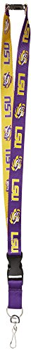 Pro Specialties Group NCAA LSU Tigers Two-Tone Lanyard, Purple, One - Key Tigers Lsu