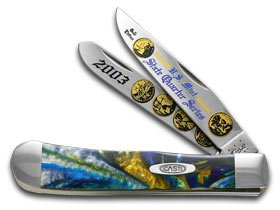 CASE XX 2003 State Quarter Gold Series Trapper 1/3000 Stainless Pocket Knife Set