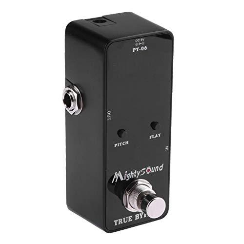 - Store-Homer - PT-06 Mini Pocket Chromatic Tuner B0-B6 Effect Pedal Black for Guitar Bass Violin Ukulele Line-in and Mic Detection
