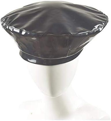 帽子 ハンチング帽子 メンズ レディース キャスケット ソフト 日よけ 調整可能 ハット SGSJP (Color : Navy blue, Size : 56-58cm)