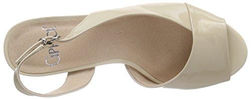 Caprice 28311 - Sandalias de Talón Abierto Mujer Beige - Beige (SAND PATENT 302)