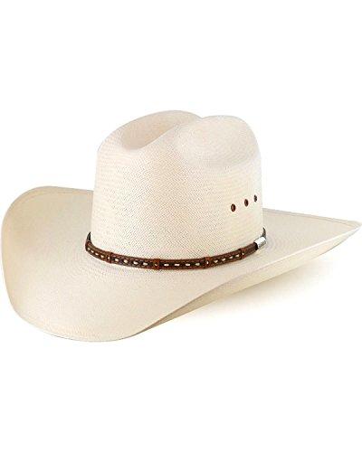 Stetson Men's 10X Natural Gunfighter Straw Cowboy Hat Natural 7 3/8 (Hats Western Straw Stetson Mens)