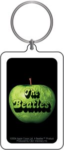 The Beatles Keychain & Keyring - Apple Photo & (Apple Logo Key)