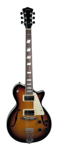 Johnson JH-100-S Delta Rose Electric Guitar, Sunburst