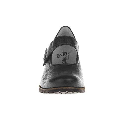 tessamino Damen Pumps aus Hirschleder | komfortabel | Weite H | für Einlagen Schwarz