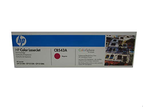 (HP CB543A 125A Color LaserJet CM1312 CP1215 CP1217 CP1515 CP1518 Toner Cartridge (Magenta) in Retail Packaging)
