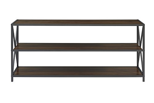 WE Furniture AZS60XMWDW Console Table, Dark Walnut by WE Furniture