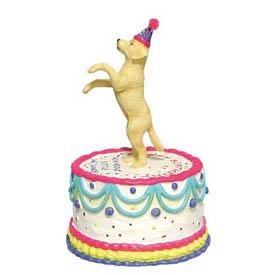 Pleasing Labrador Retriever Animated Happy Birthday Cake Figurine New Funny Birthday Cards Online Alyptdamsfinfo