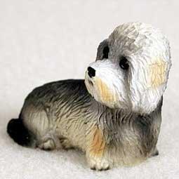 Dandie Dinmont Terrier Miniature Dog Figurine (Dandie Dinmont Terrier Dog Figurine)