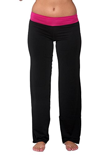 Nouveau Active Full Length Yoga Pant with Contrasting Color Waistband