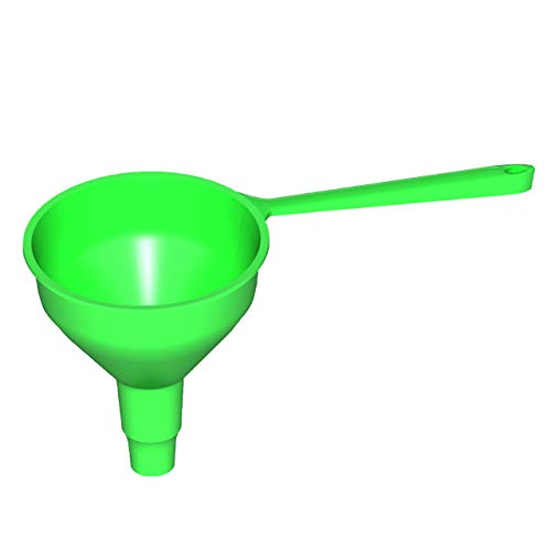Kole Imports Plastic funnel with a handle for transferring liquids Medium size Model GM814