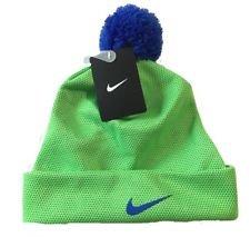 Nike Kids Boys Lined Beanie Ski Snowboarding Cap Hat Green Strike, Size 8/20