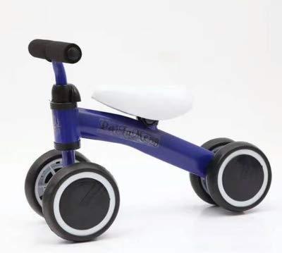 De Equilibrio de Cuatro Ruedas Coche niños Scooter Silla Pedal cochecillo de los niños-Azul 20.5 Pulgada: Amazon.es: Jardín