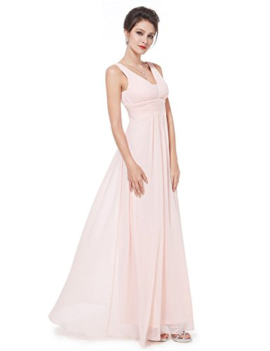 Ever Pretty Robe de soiree en double V-col de style Empire 46 Rose EP08110PK14