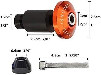 Embouts Topes Poign/ées de Guidon Moto 22 mm Aluminium CNC Universal rouge