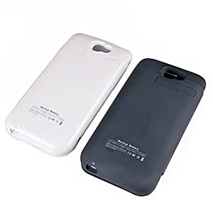 get Samsung Galaxy Note 2 N7100 Battery Charger Case With Front Flip Cover 3200mAh - White With Leather Case , White