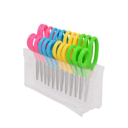 """Westcott 5"""" Anti-Microbial Kids Scissors Pointed, Assorted Colors, 12pk"""