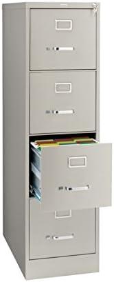 """B002VKVHKO OfficeMax 4-Drawer Commercial Vertical File, 26-1/2"""" D, Letter Size, Light Gray OM96935 31nJwAhdFfL."""