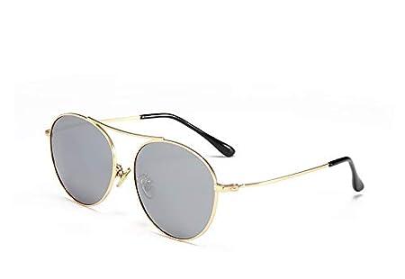 Xiaochou@sl Gafas de Sol polarizadas de Metal, Gafas de Sol de Marea, niños y niñas, Lentes de película de Colores, Marco Redondo, protección UV Claro (Color : Pink) niños y niñas Lentes de película de Colores