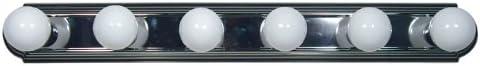 Yosemite Home Decor 4506SN 35.5-Inch 6-Light Bathroom Vanity, Satin Nickel