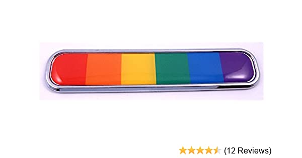 Pride Gay Lesbian rainbow flag Chrome Emblem 3D auto Decal car bike boat 5.3 Car Chrome Decals