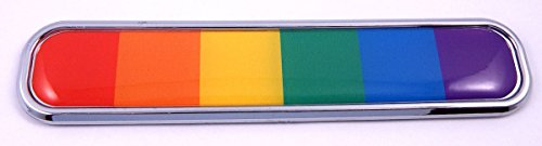 Pride Gay Lesbian rainbow flag Chrome Emblem 3D auto Decal car bike boat 5.3