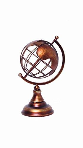 (Hosley Copper Colored Finish Tabletop Decorative Globe, 8