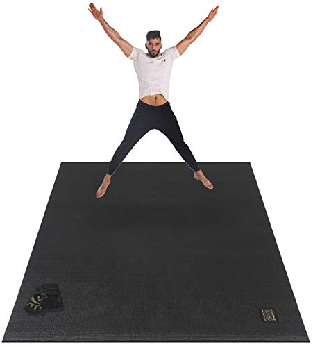 GXMMAT Large Exercise Mat 6'x4'x7mm, Thick Workout Mats for Home Gym Flooring, Extra Wide Non-Slip Durable Cardio Mat, High Density, Shoe Friendly, Great for Plyo, MMA, Jump Rope, Stretch, Fitness