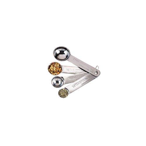 - American Metalcraft (MSSF75) Stainless Steel Measuring Spoons (Set of 4)