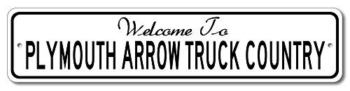 (Plymouth Arrow Truck - Welcome to Car Country Sign - Aluminum 4