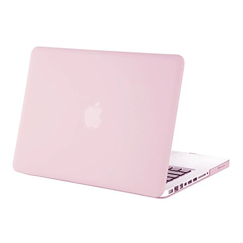 Price comparison product image Mosiso Plastic Hard Case Cover Only for Old MacBook Pro 13 Inch with CD-ROM (Model: A1278,  Version Early 2012 / 2011 / 2010 / 2009 / 2008),  Rose Quartz