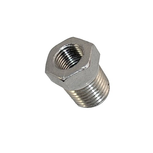 """SuperWhole 1/4"""" Male x 1/8"""" Female Thread Reducer Bushing Pipe Fitting SS 304 NPT NEW"""
