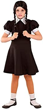 DISBACANAL Disfraz de Miércoles para niña - -, 8 años: Amazon.es ...