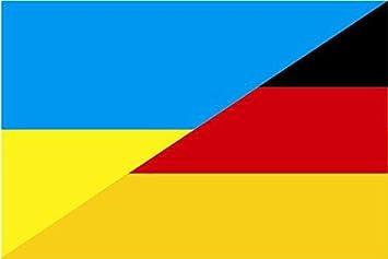 U24 Aufkleber Ukraine Deutschland Flagge Fahne 15 X 10 Cm Autoaufkleber Sticker Auto