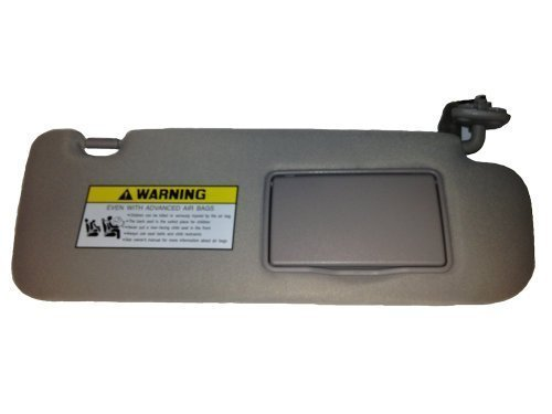 New Genuine 2006-2008 Hyundai Sonata Sun Visor, Passenger Side, Gray w/ Sunroof