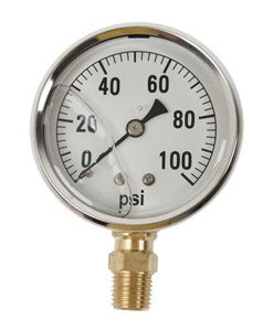 GAUGE-100 PSI LIQUID FILL SS CASE (Fill Gauge Ss Liquid)