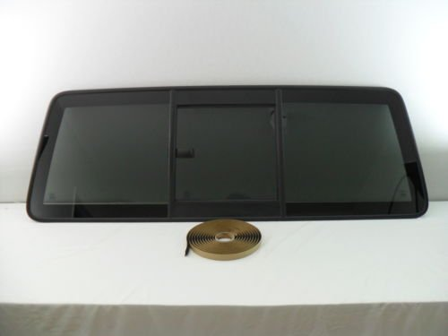 CARLITE DB9347YPY 1998-2011 Ford Ranger/Mazda Pickup Sliding Rear Back Glass Slider Window OE with Ford Logo with Tape