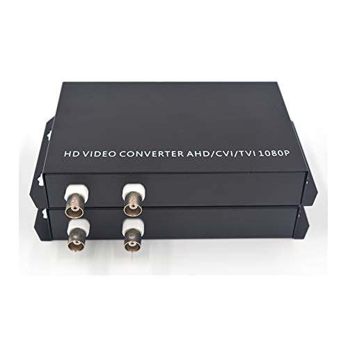 Guantai 2 Channels Coaxial HD Video Over Fiber Optic Media Converters - for 1080p 960p 720p CVI TVI AHD HD Camera (Without RS485 Data) ()