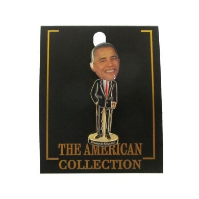 President Barack Obama Bobble Head Lapel Pin