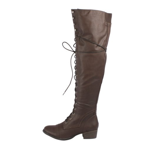High Boots Alabama Breckelle's Women's Riding Knee 12 Brown ZzI7YnwqO7