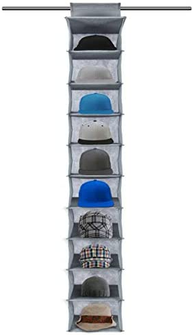 Toopify Hat Rack, 10 Shelf Hanging Closet Hat Organizer for Hat Storage, Protect Your Caps & Keep Them in Great Condition