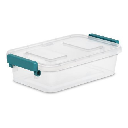Sterilite 2.7 Qt./2.6 L Modular Latch Box, Clear, Available in Case of 6 or Single (Cc Latch Handle)