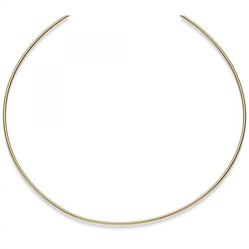 1,5mm Collier ras Omega jonc Omega chaîne collier en or jaune 58545cm dévissables