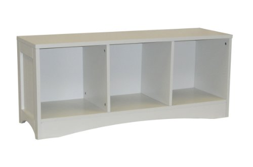 RiverRidge Bench with 3 Cubby's, White - White Childrens Bench Shopping Results