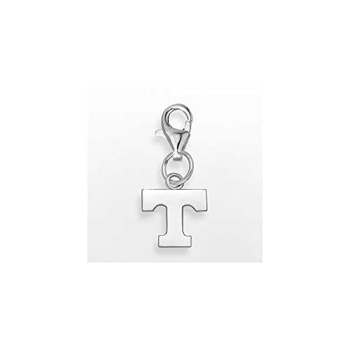 Sterling Silver University of Tennessee NCAA Tennessee Jewelry Pendants & Charms UNIV OF TENNESSEE POWER T 3/8 ON LOBSTER CLAW