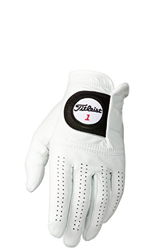 Titleist Players Mens Cadet LH Pearl, White(Medium, Worn on Left Hand)