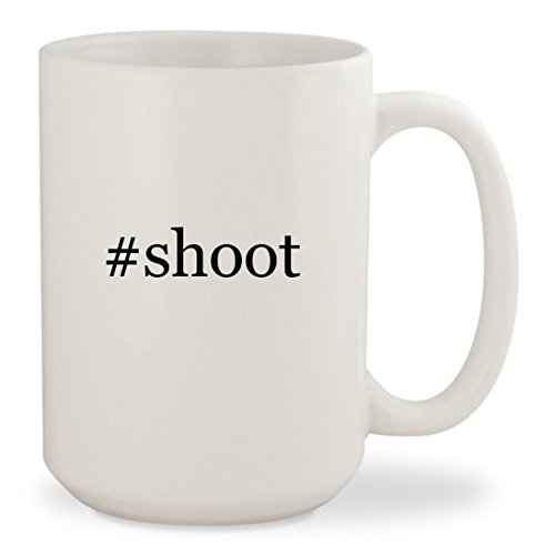 Virginia Tech Rocks Glass - #shoot - White Hashtag 15oz Ceramic Coffee Mug Cup