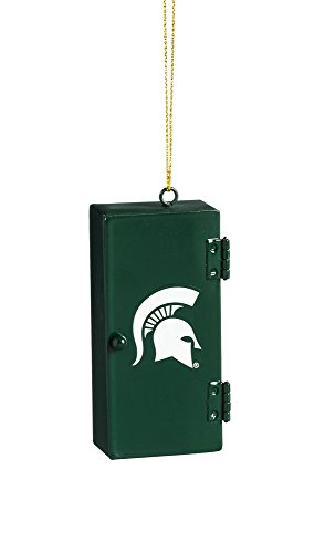Christmas Tree Store Michigan - Team Sports America Michigan State Spartans Team Locker Ornament