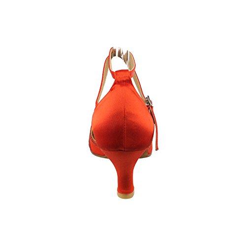 50 Tonalità Di Scarpe Da Ballo Rosse: Abito Da Sera Comfort Da Sposa, Scarpe Da Ballo Per Latino, Tango, Salsa, Swing, Theather Art Di 50 Tonalità (2,5, 3 E 3,5 Tacchi) 3530- Raso Rosso E Stardust Rosso