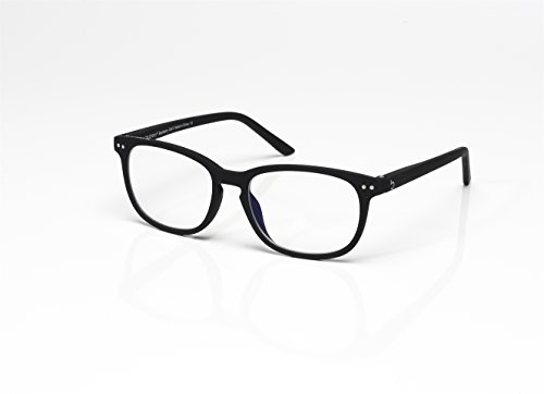 Blueberry - Computer Glasses -Size XL -Black -Unisex-Blue Light Blocking Eyeglasses - Digital Screen Glasses - Reduce Eyestrain and Eye Fatigue - Clear Lenses - (Blackberry, Clear BLP Lens Technology) (Lens Smooth Clear)